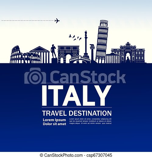 Travel to Italy vector - csp67307045