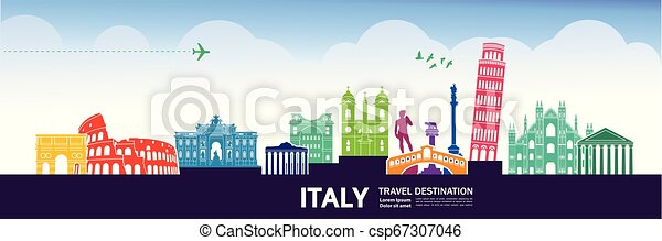 Travel to Italy vector - csp67307046