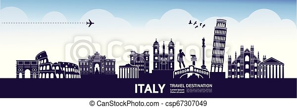 Travel to Italy vector - csp67307049