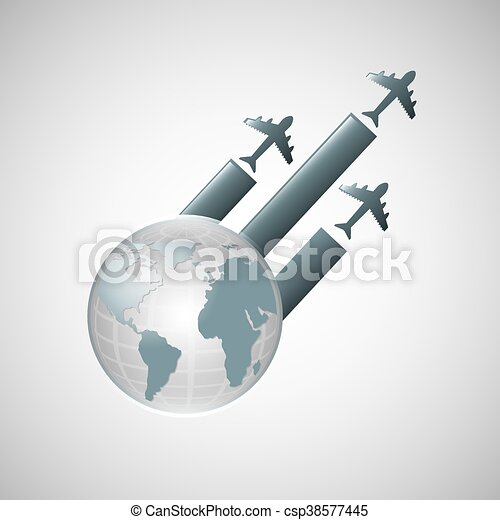 travel transportation airplane - csp38577445