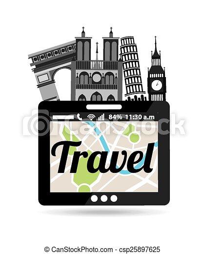 travel vacations - csp25897625