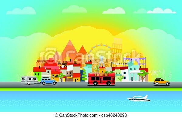 Travel vector illustration - csp48240293