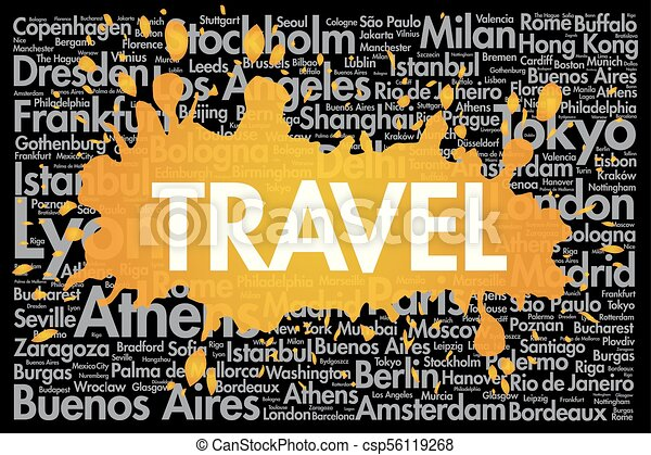 TRAVEL Word Cloud Concept