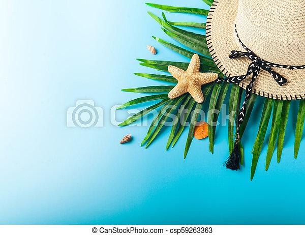 300cdccc Traveler accessories, summer background. Traveler accessories ...