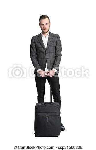 Traveling businessman  - csp31588306
