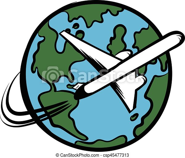 traveling by a plane icon cartoon traveling by a plane icon rh canstockphoto com travel clip art pictures traveling clipart black and white