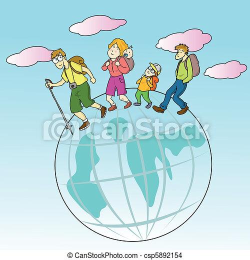 traveling family - csp5892154