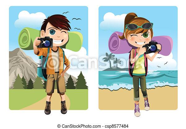 Traveling kids - csp8577484