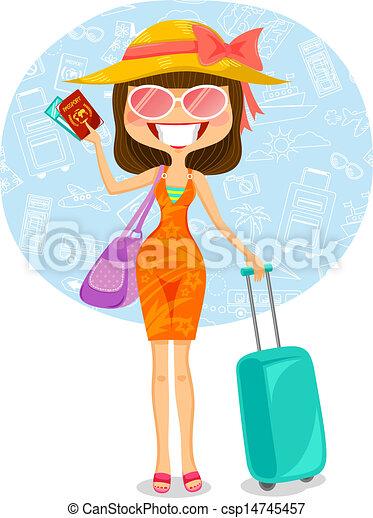 traveling woman - csp14745457