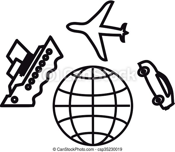 Travelling Around The World Holiday Vacation World Travel Icon