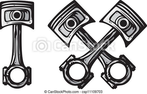 traversé, moteur, pistons - csp11109703