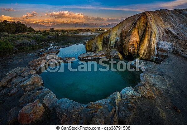 Travertine Hot Springs - csp38791508