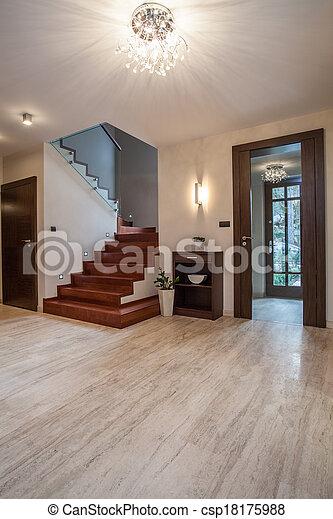 Travertine House: Staircase   Csp18175988