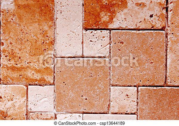 Trasfondo de textura de baldosas travertinas - csp13644189