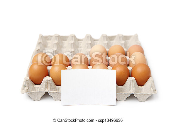 tray of eggs - csp13496636