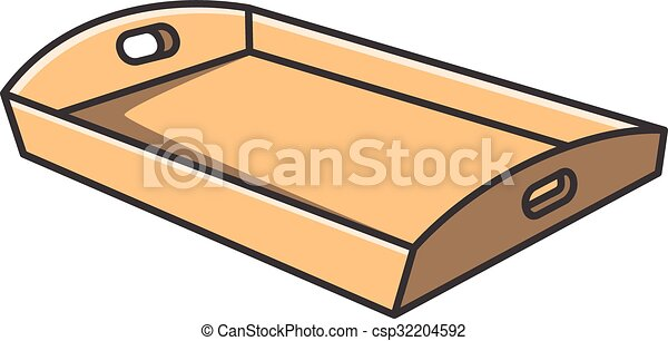 Tray vector cartoon illustration - csp32204592