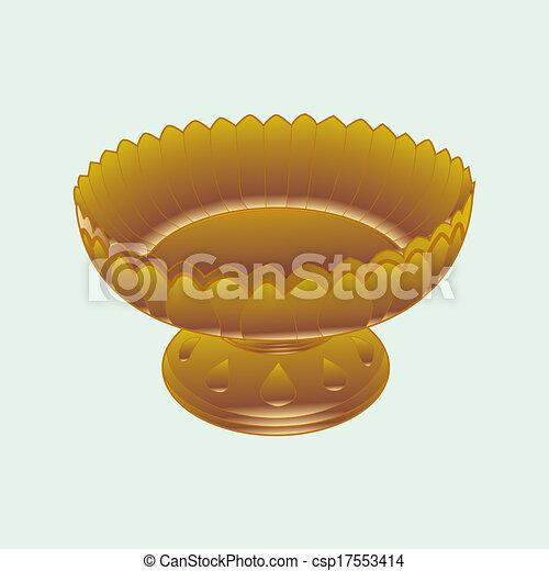 tray with pedestal vector - csp17553414