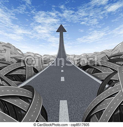 El camino del éxito - csp8517605