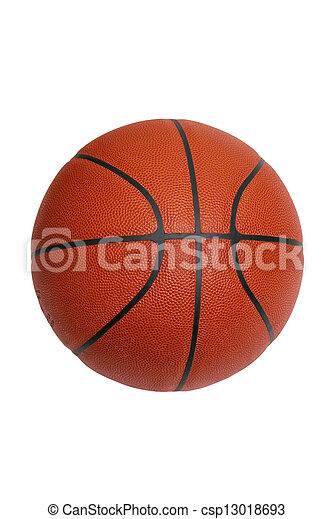 Baloncesto aislado en blanco con camino de recorte - csp13018693