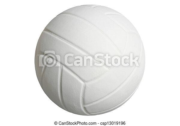 Voleibol aislado en blanco con camino de recorte - csp13019196
