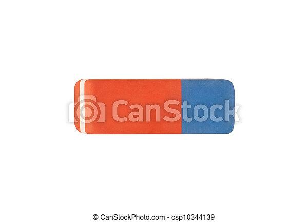 Borrador de fondo blanco con camino de recorte - csp10344139