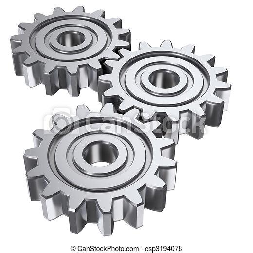 tre, ingranaggio - csp3194078