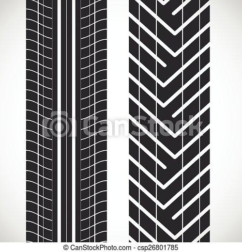 Tread Pattern Tyre Vector Set Of Detailed Tire Prints Custom Tire Tread Patterns