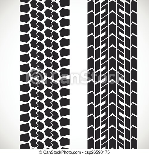 tread pattern tyre vector set of detailed tire prints rh canstockphoto com tire tread vector graphic tire tread vector graphic
