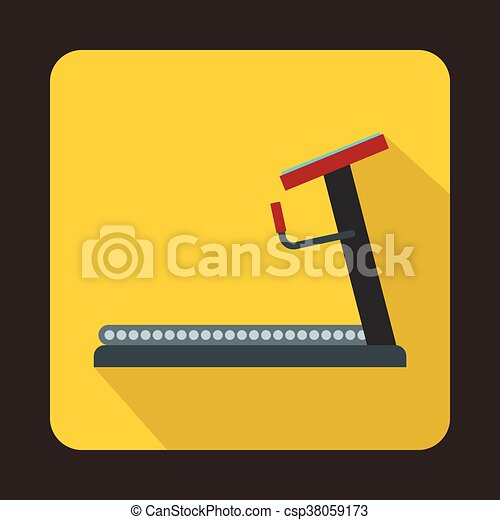 Treadmill icon in flat style - csp38059173