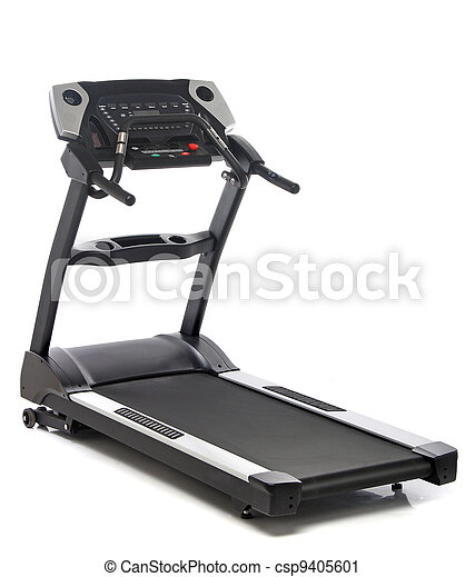 Treadmill isolated on white background - csp9405601