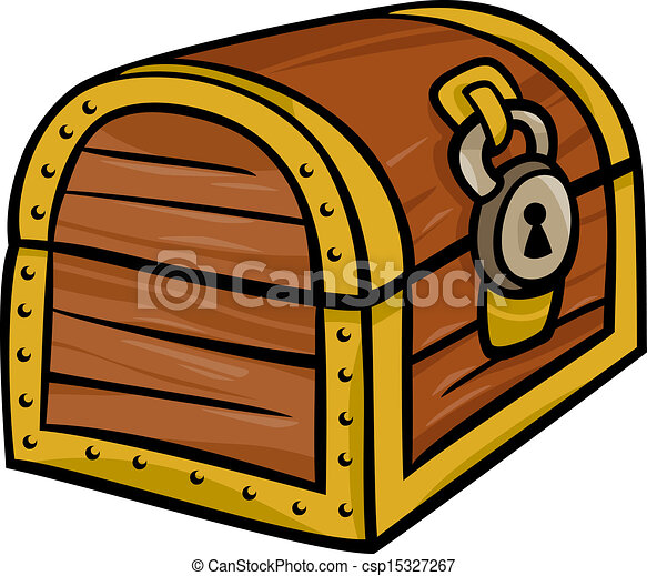 treasure chest clip art cartoon illustration - csp15327267