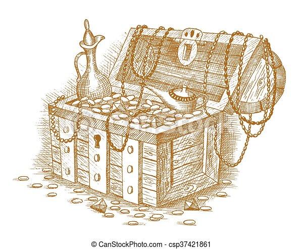 Treasure chest - csp37421861