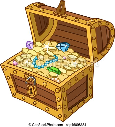treasure chest opened wooden treasure chest full of gold coins