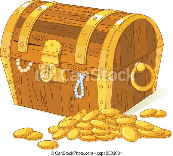 Treasure chest - csp12533081