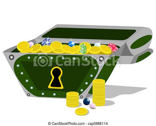 Treasure Chest.  - csp5986114