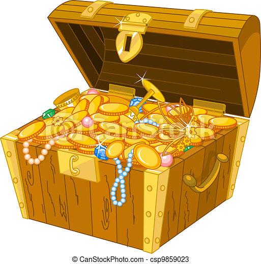 Treasure chest - csp9859023
