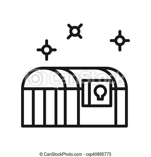 treasure chest - csp40895773