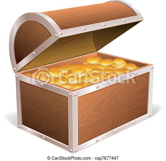 Treasure chest. - csp7677447