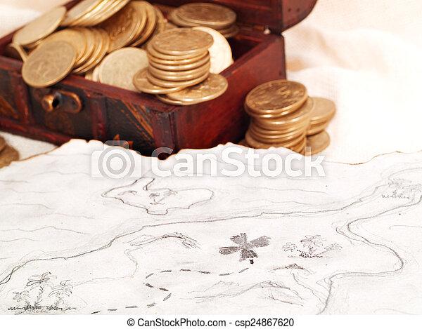 Treasure chest - csp24867620