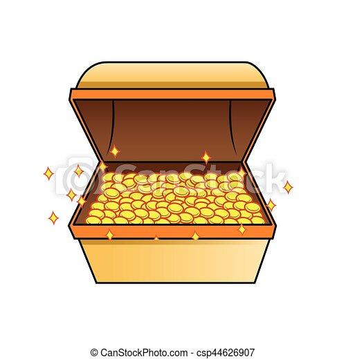 treasure chest - csp44626907