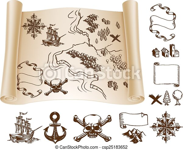 treasure map kit example map and design elements to make your own