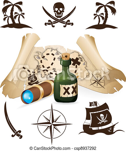 Treasure Map Pirate Collection