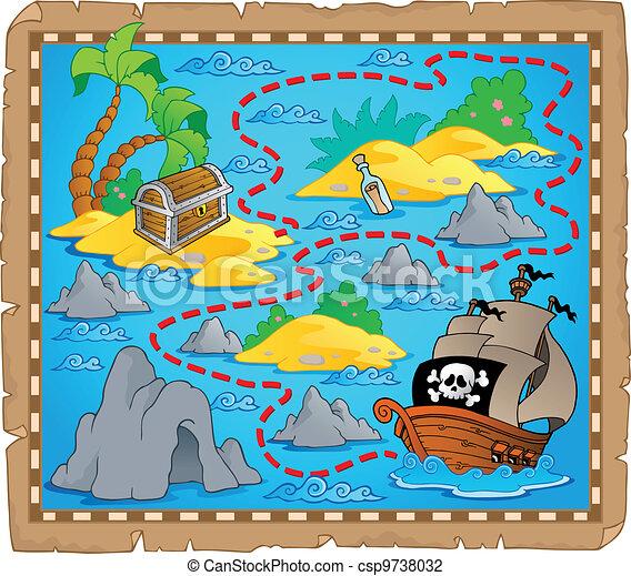 Treasure map theme image 3 - csp9738032