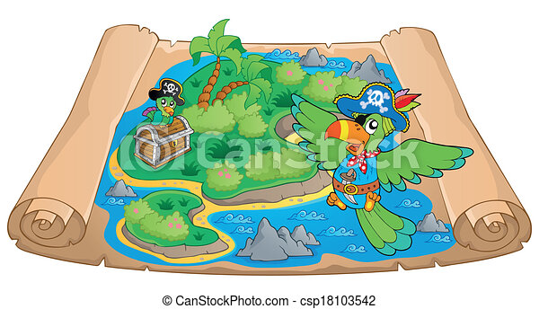 Treasure map theme image 6 - csp18103542
