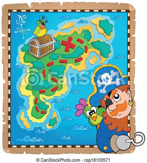 Treasure map topic image 4 - csp18103571