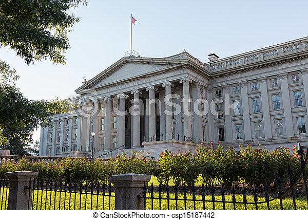 Treasury Building Washington DC - csp15187442