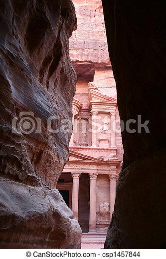 treasury of rock city Petra - csp1457844