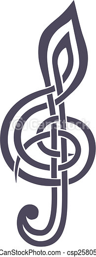 treble clef - csp2580526