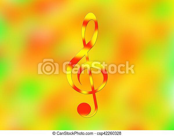 Treble clef - csp42260328