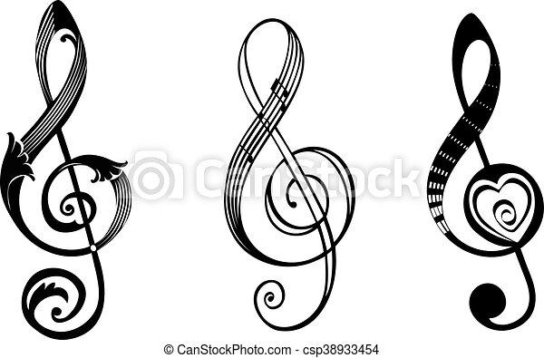 treble clef csp38933454